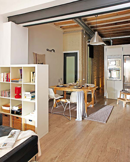design solutions for small spaces, small space design, studio loft, loft design, loft bed, decorating small spaces, tiny spaces, storage solutions, room divider
