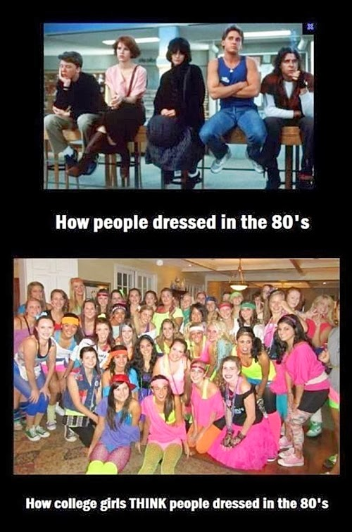 Dressed in the 80s Meme