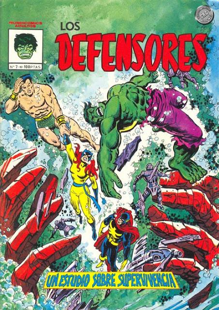 Portada de Los Defensores Mundicomics Nº 7 Ediciones Vértice