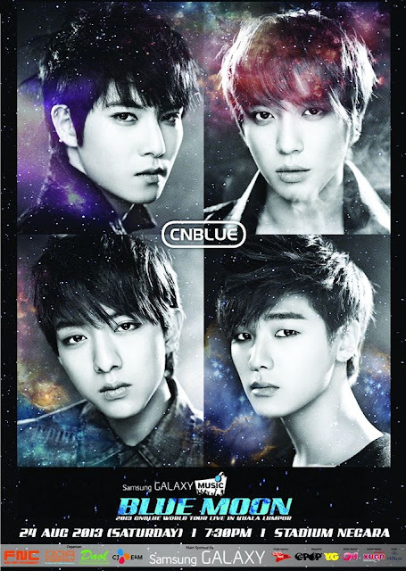 cnblue malaysia konsert poster