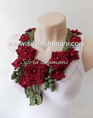 Colar Mistral Flower, colar de crochê, crochê, colar de crochê com flores, flores de crochê, feminino, moda feminina, handmade, feito a mão
