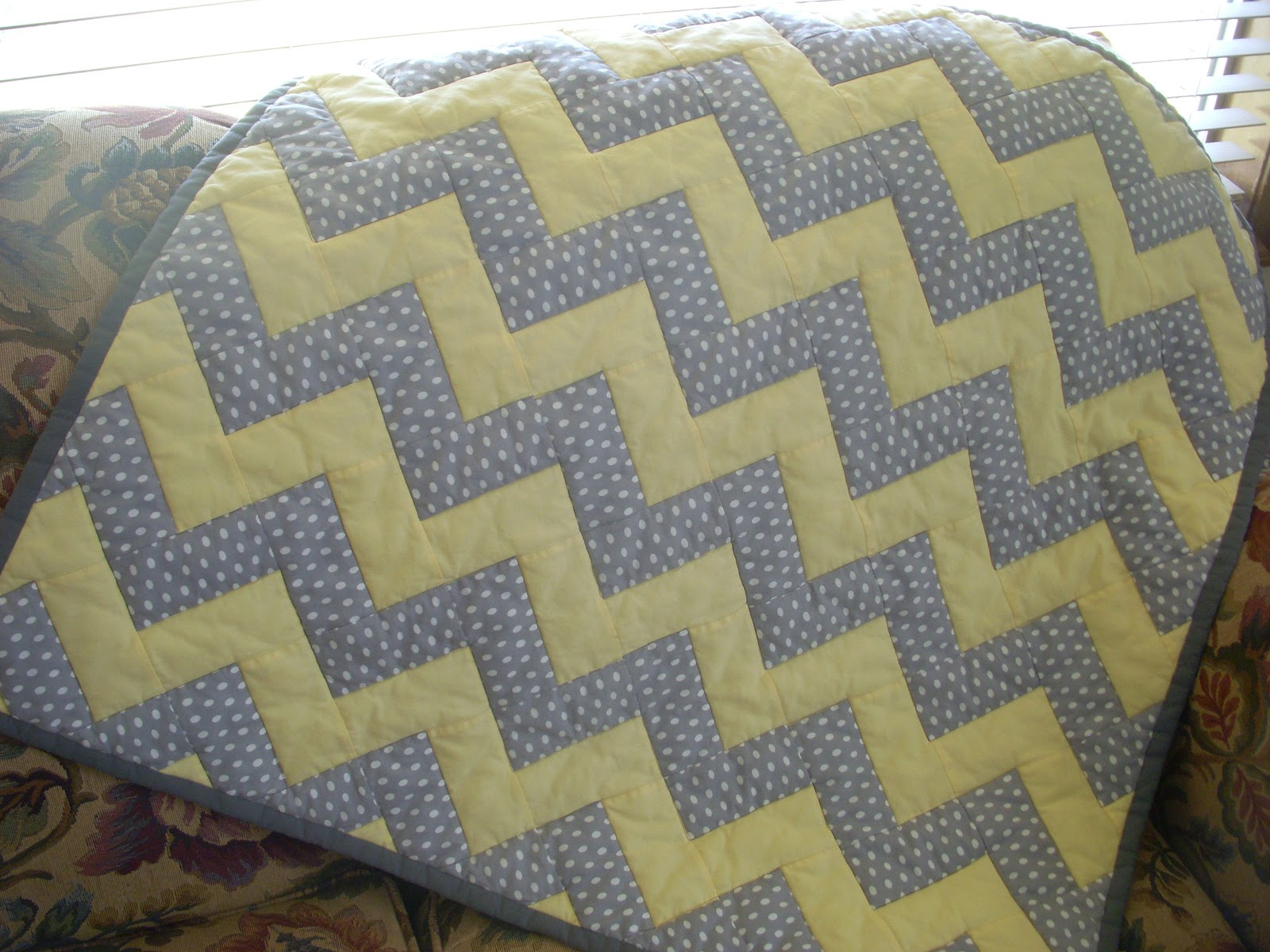 Crafted by KatieB: Chevron Baby Quilt : pattern for chevron baby quilt - Adamdwight.com