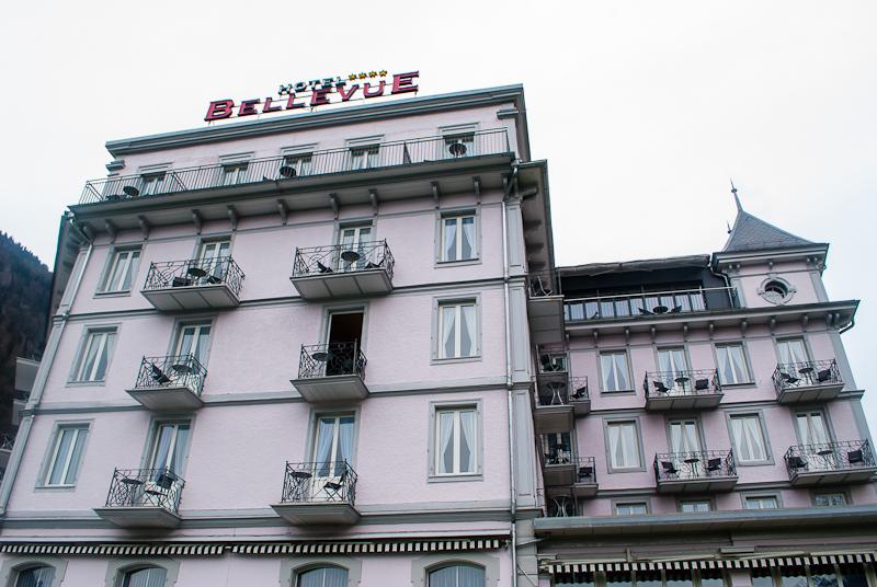 Facade of Hotel Bellevue in Interlaken