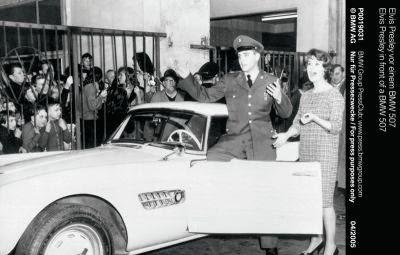 BMW 507 condus de Elvis Presley