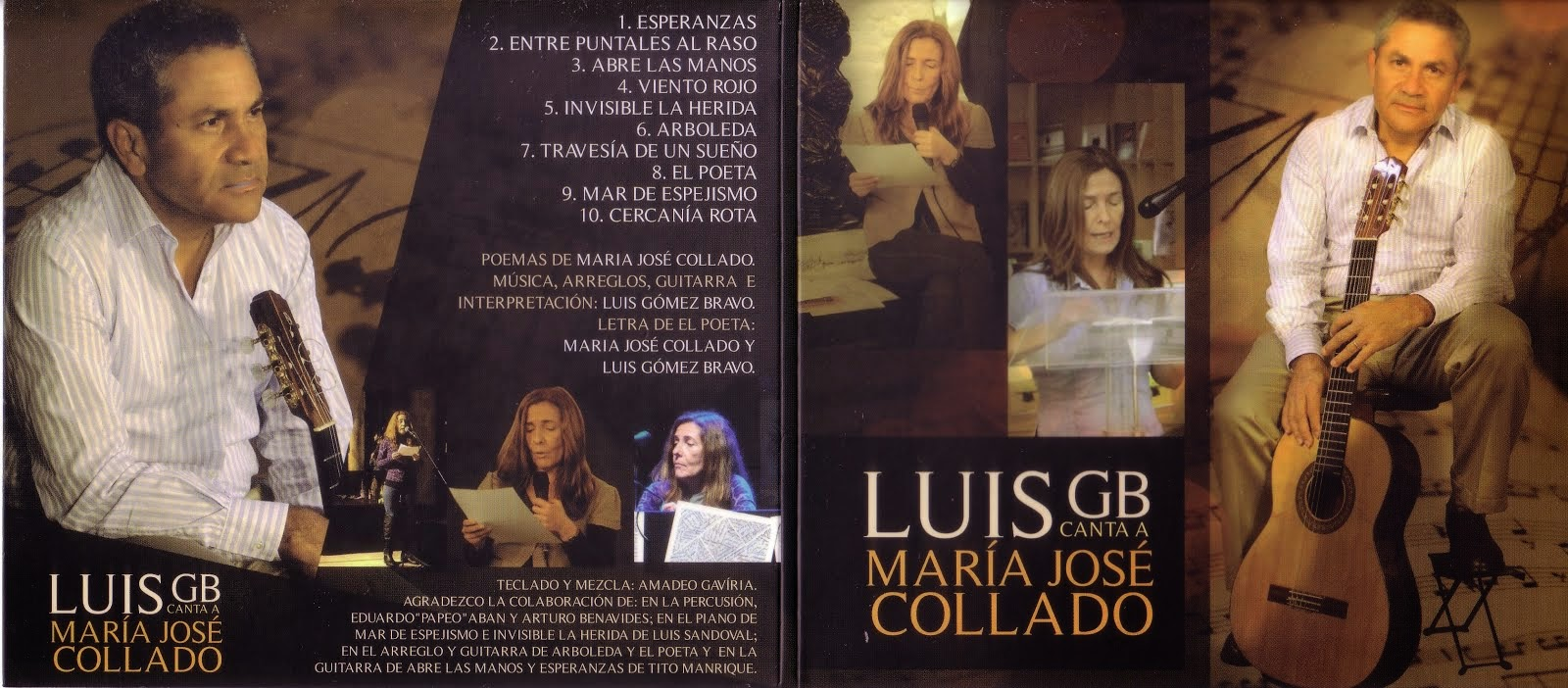 Gómez Bravo canta a Mª José