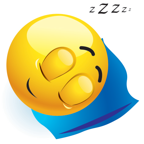 Fast asleep emoticon