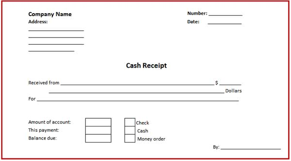 goods receipt form template
