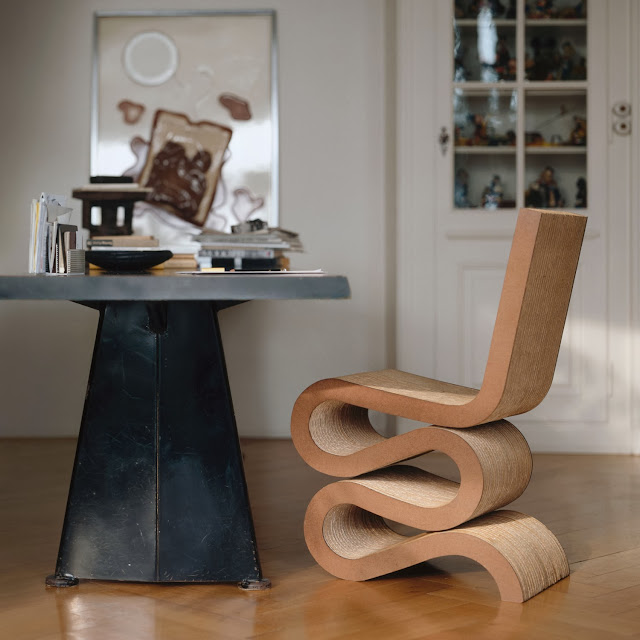cardboard furniture design, wiggle chair