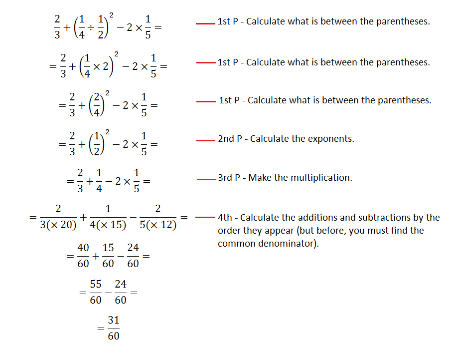 Numerical expressions - order of operations and solved examples