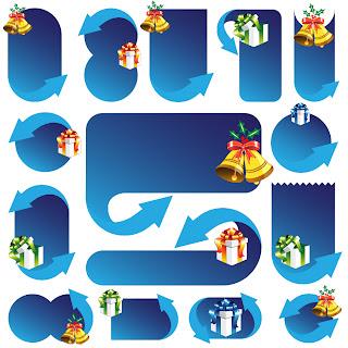 クリスマスのダイアログボックス exquisite christmas dialog box イラスト素材