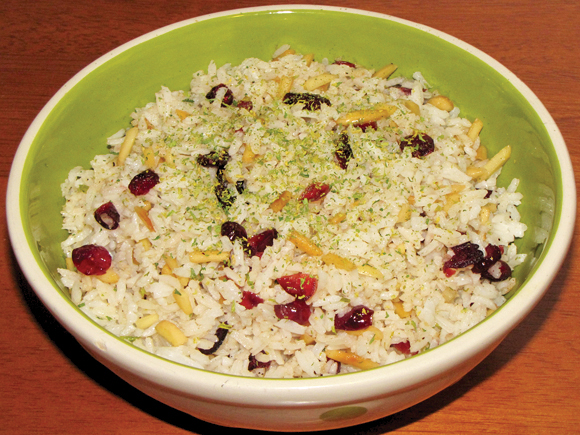 Pinch of Lime: Cranberry and Toasted Almond Rice Pilaf