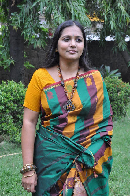 Tamil Actress Vinodhini Saree Photos at Yamuna Movie Press Meet