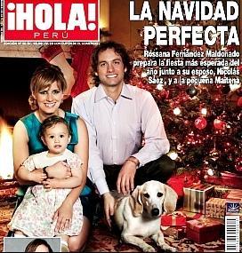 Rossana Fernandez-Maldonado con su familia