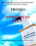 DIPLOMA  QUE CERTIFICA PREMIO CORAZÓN DE CUBA