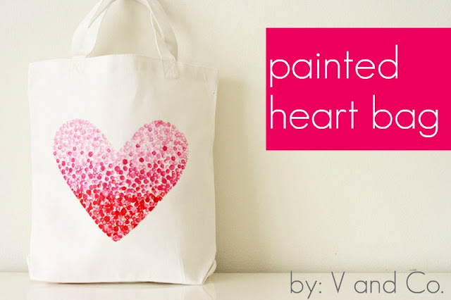 Painted heart bag by V and CO.
