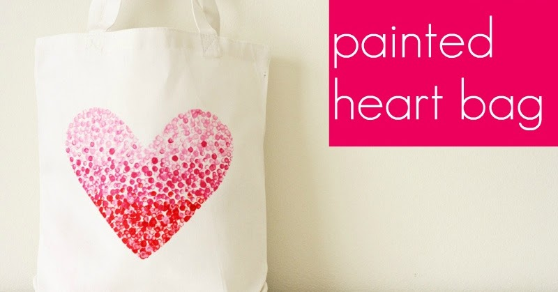 V and Co.: V and Co: how to: painted heart bag