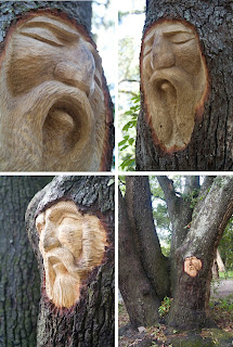 Tree Spirit Carvings by Keith Jennings Seen On www.coolpicturegallery.us