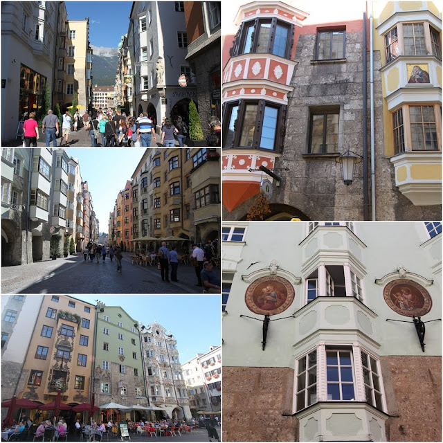 The capital city of Innsbruck which is filled with beautiful wall designs and structure buildings in Austria
