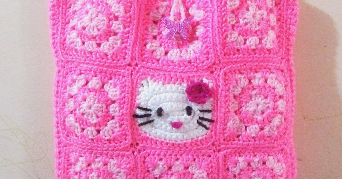 Another Cup Of Coffee My Hello Kitty Crochet Tote Bag