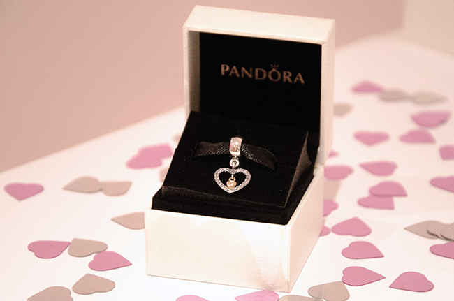 Pandora Forever in My Heart Charm