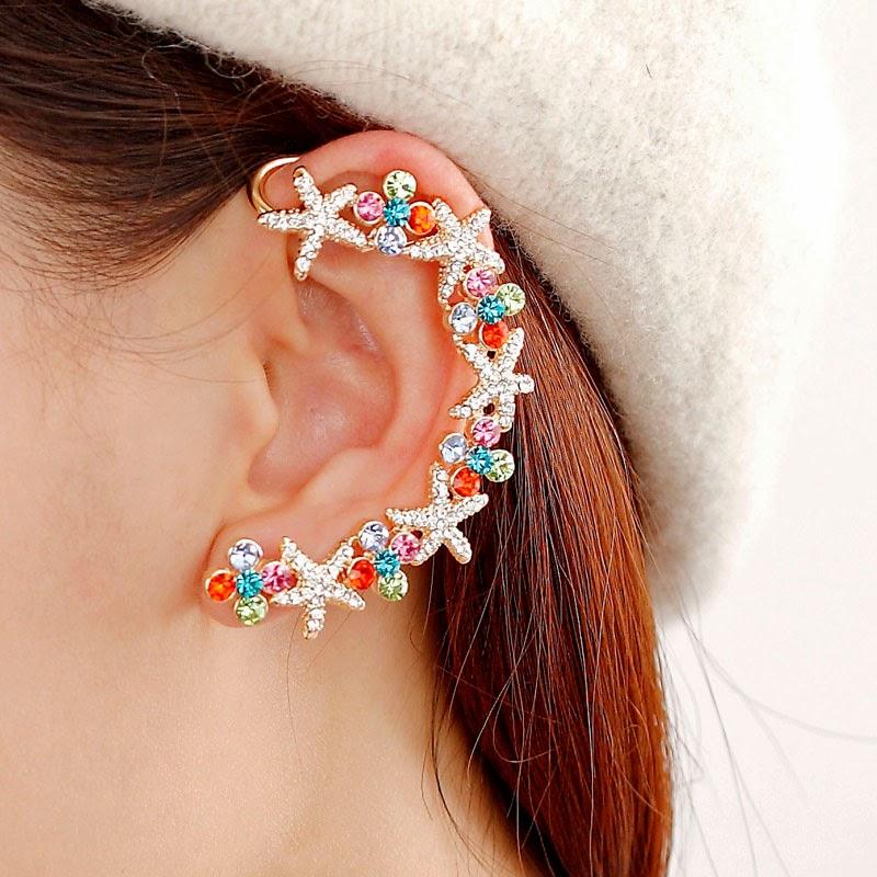 Alice: Beautiful Flower Ear Cuff Wrap Earrings For Your ...
