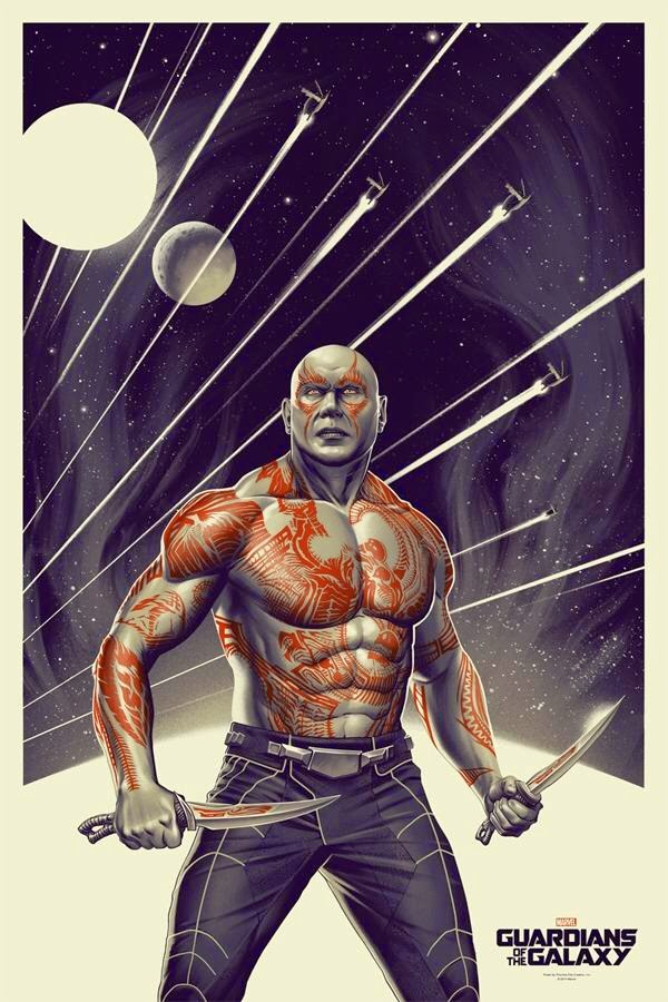 San Diego Comic-Con 2014 Exclusive Drax Guardians of the Galaxy Screen Print by Phantom City Creative