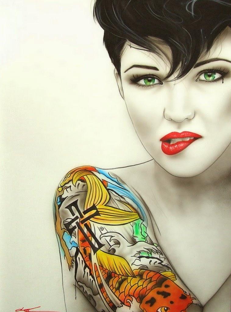 caras-de-mujeres-cuadros-al-oleo-fotografías