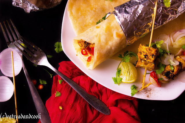 how to cook paneer frankie recipe