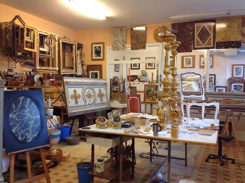 Restauration de cadres dorés à Nice