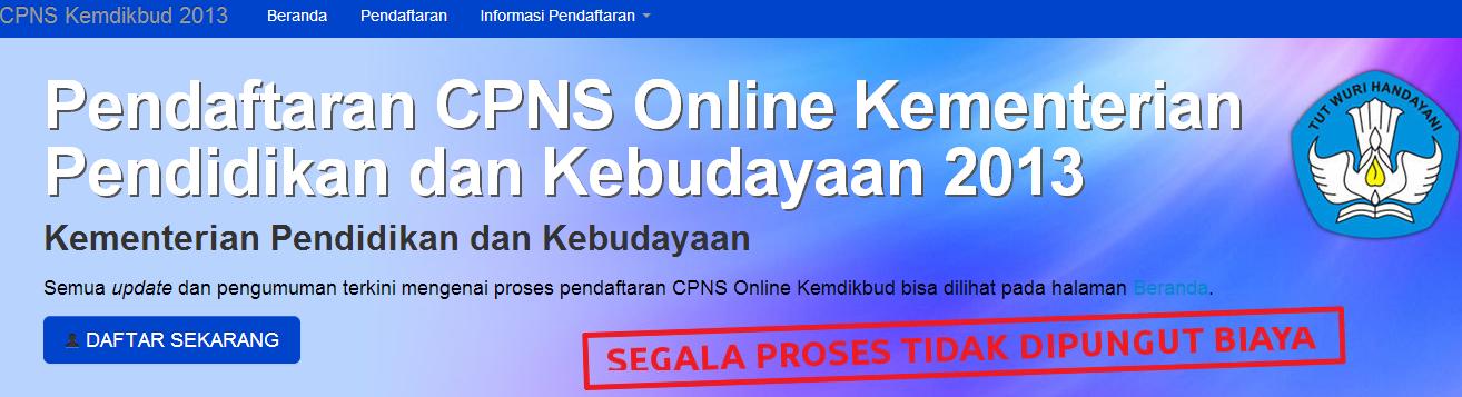 Pengumuman Hasil TKB CPNS Kemendikbud 2013