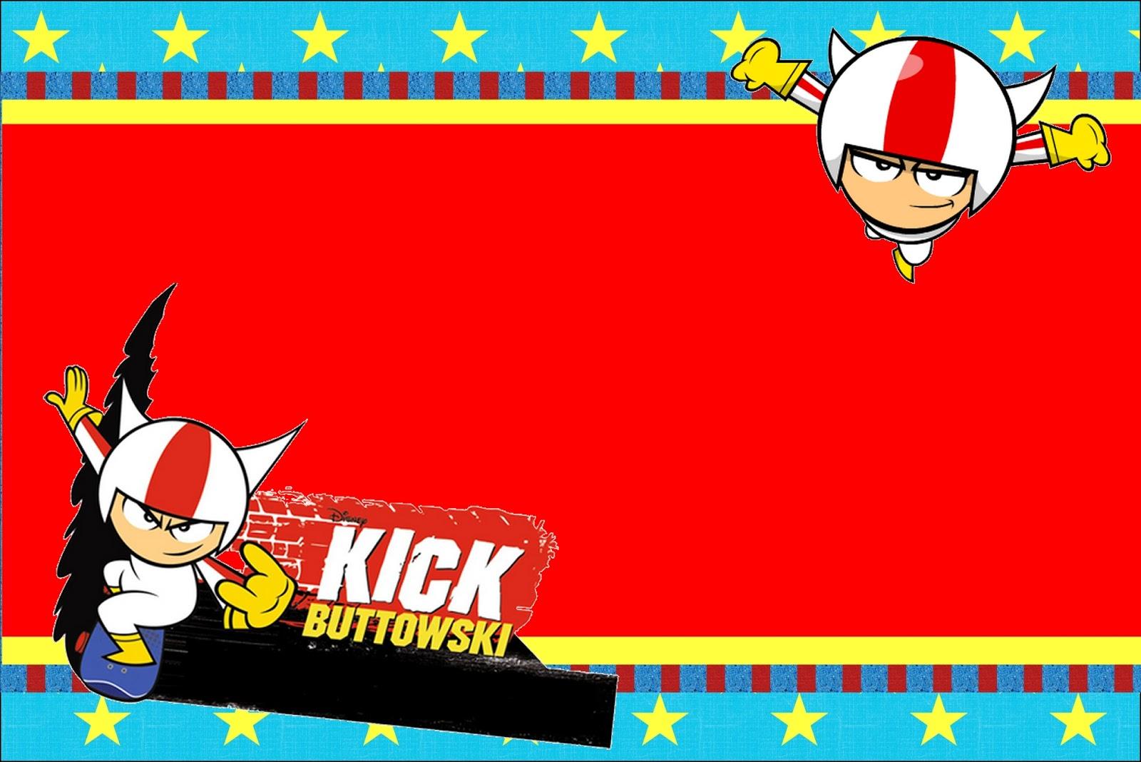 Para Imprimir Gratis  Invitaciones De Kick Buttowski
