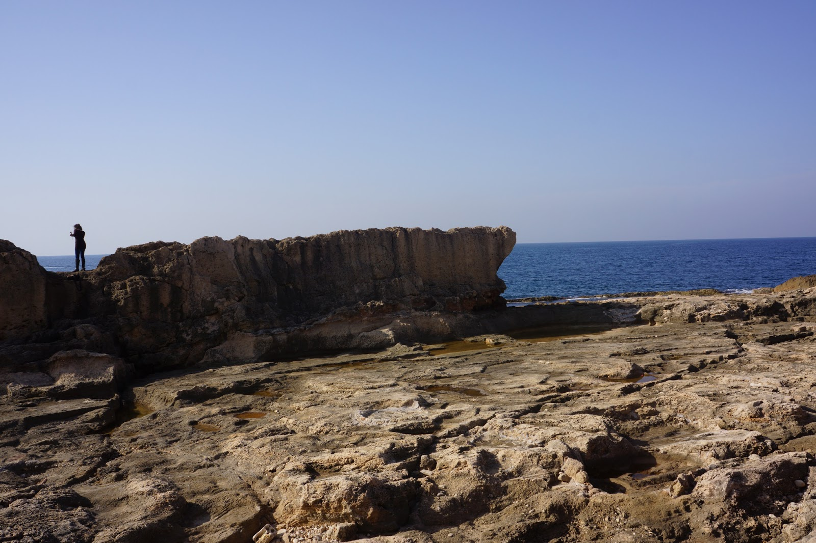 The ancient maritime wall built by the phoenicians in Batroun, Lebanon.