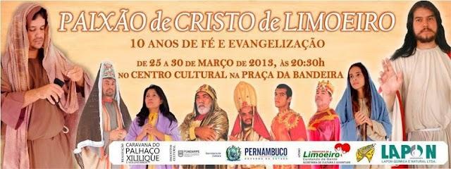 Paixão de Cristo de Limoeiro prepara estreia cheia de novidades para comemorar os seus 10 anos