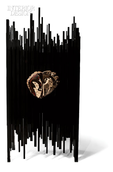 Wowser, Sculptural Furniture! This Intricate, Piercing Black Armoire Is  Lacquered Walnut With Pulls In A Cast Bronze Copper Alloy. I Just Want To  Touch It!