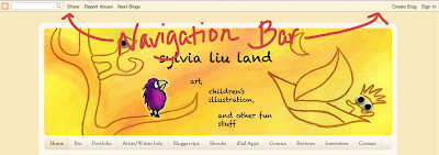 Image of Blogger blog's navigation bar