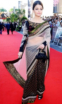 Dirt Cheap Designer Replica Clothing Online Aishwarya Rai replica saree