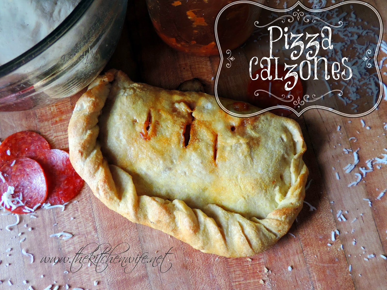 Pizza Calzone on a cutting board
