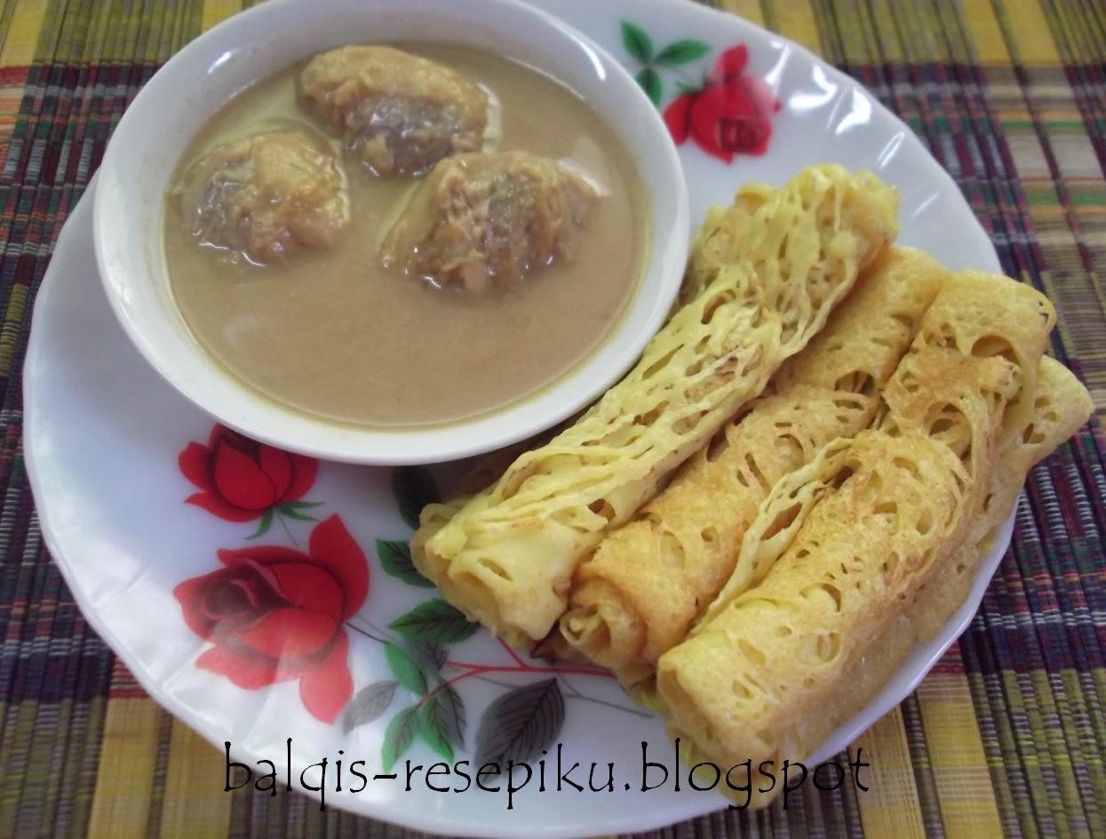 roti jala dan serawa durian