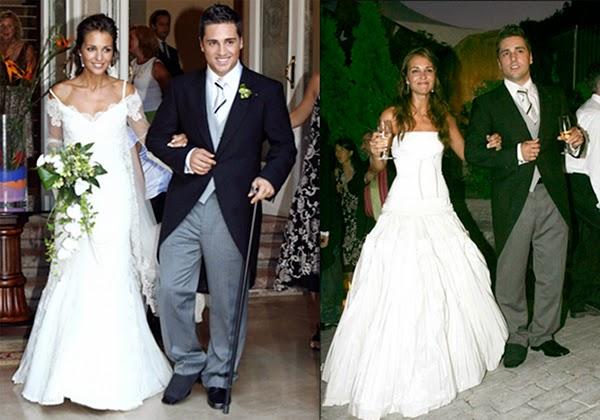 vestidos de novia boda Paula Echevarría David Bustamante hermanas bolena