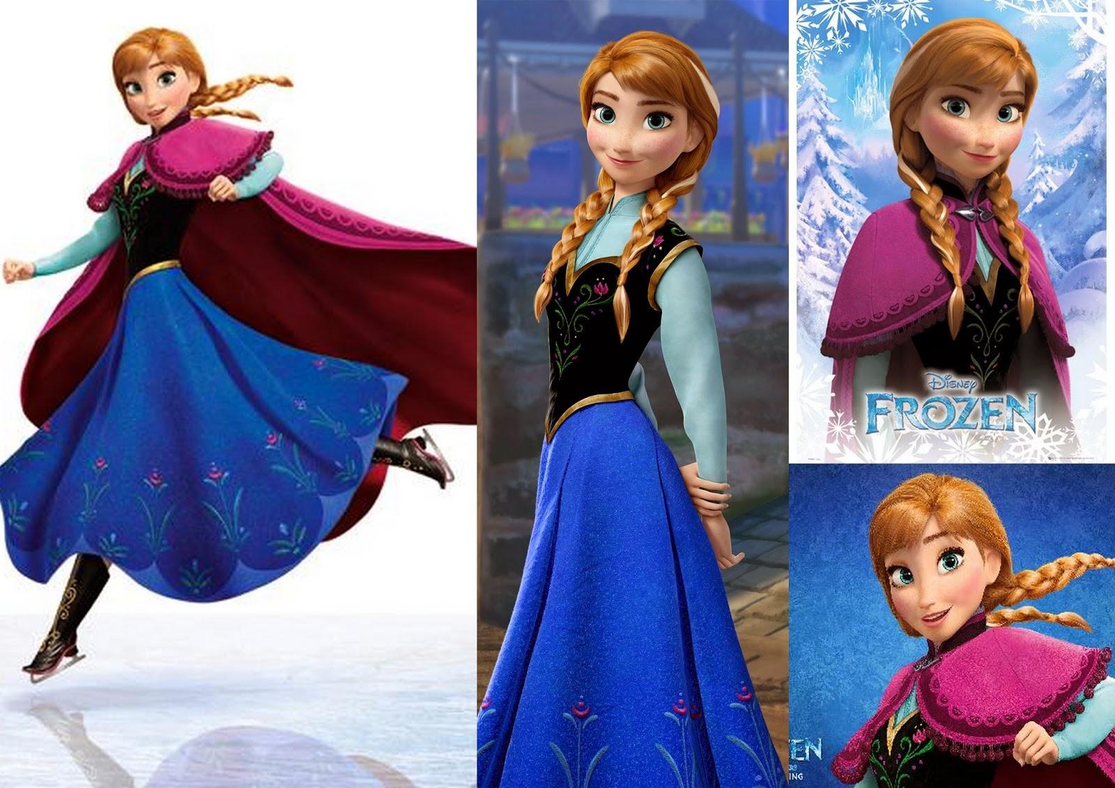 Les jolies choses costume de la reine des neiges anna - Ana reine des neiges ...