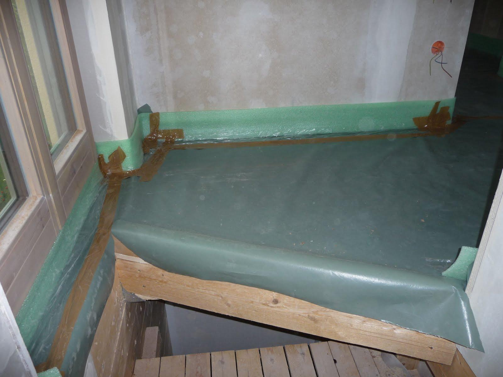 hausbau mit murr holzhaus neuburg die fu bodenheizung und. Black Bedroom Furniture Sets. Home Design Ideas