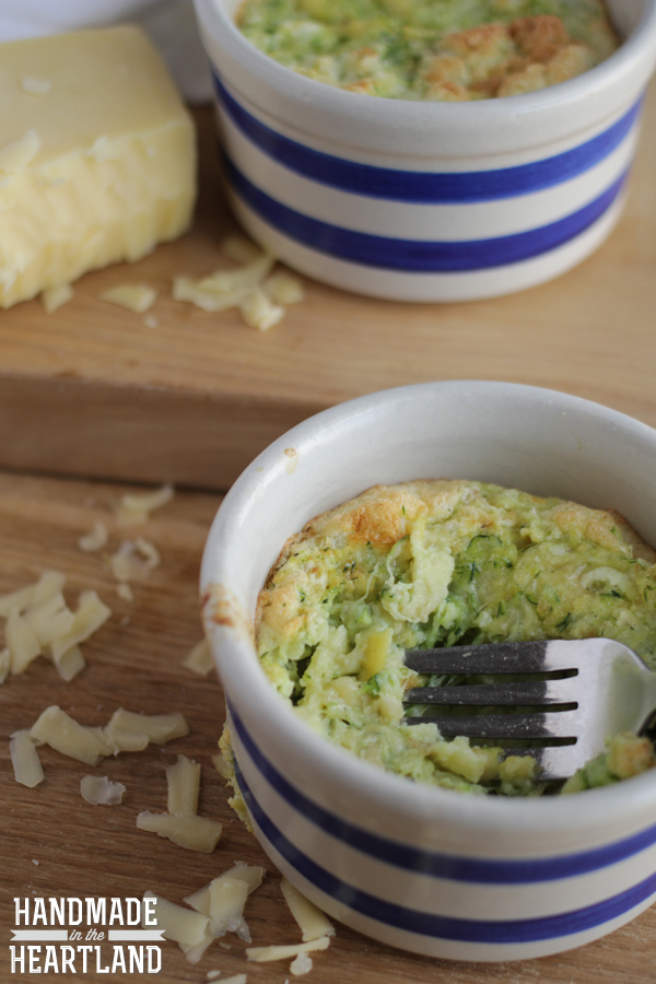 Egg, Cheese & Zucchini Souffle
