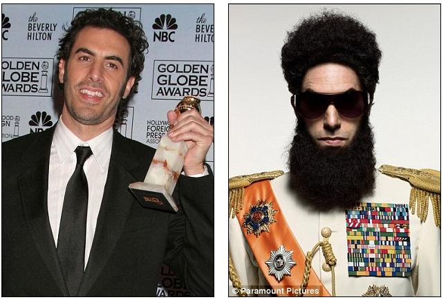 sacha baron cohen banned from the oscars over plans for