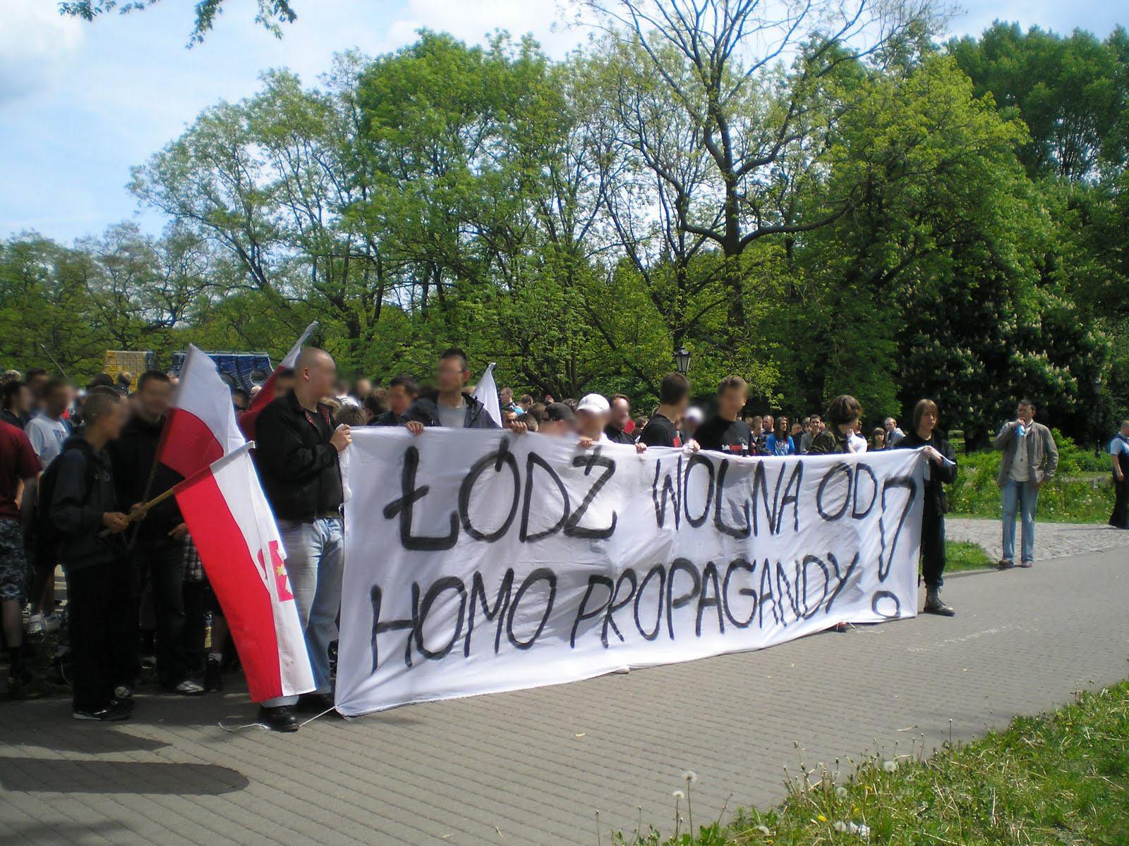 ŁÓDŹ WOLNA OD HOMOSEKSUALNEJ PROPAGANDY!