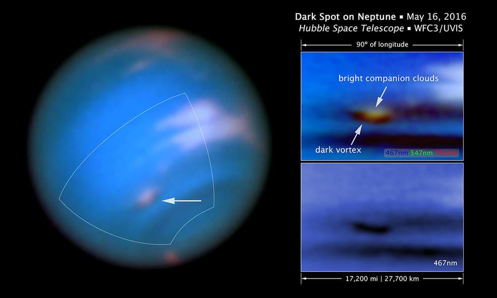 Captan mancha en Neptuno