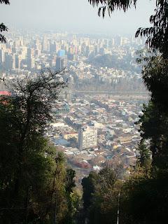 Vista da cidade de Santiago