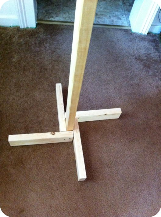 Homemade clothes rack for Ghost antler coat rack