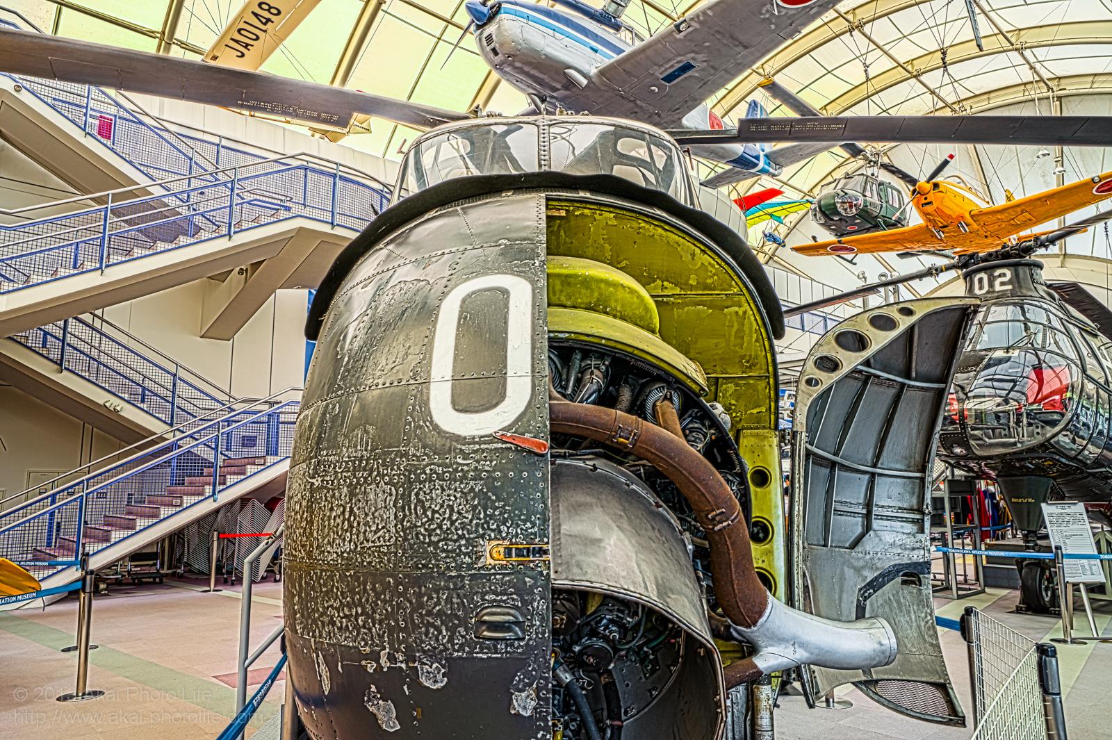 正面から撮影したシコルスキー H-19の写真