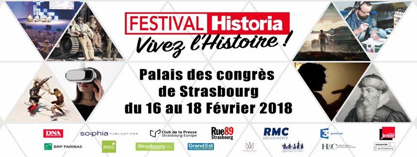 Festival Historia<br>Plongez dans l&#39;Histoire<br>le temps d&#39;un week-end à Strasbourg !