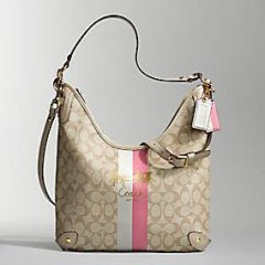 nwt coach 13193 chelsea conv heritage strip hobo bag pink